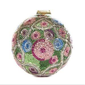 Stunning Vintage Judith Leiber Floral Minaudiere